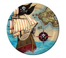 """Šķīvīši """"Pirātu dārgumi"""" (8 gab/18 cm)"""