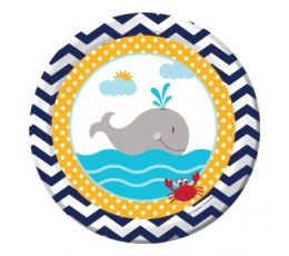 "Šķīvīši ""Jūras svētki ""(8 gab/17 cm)"