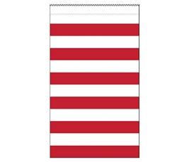 Dāvanu maisiņi, sarkani -svītraini (15 gab)