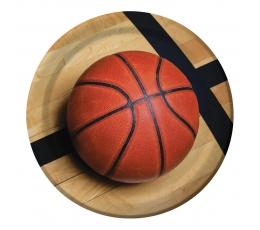 """Šķīvīši """"Basketbols"""" (8 gab/23 cm)"""