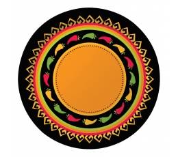 "Šķīvīši ""Reiz Meksikā"" (8 gab/22 cm)"
