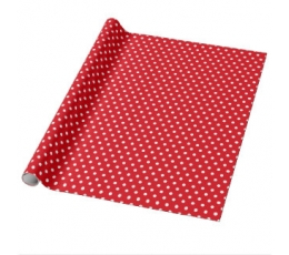 Dāvanu papīrs, punktaini sarkans