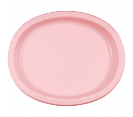 Šķīvīši, paplātes, maigi rozā(8 gab/30 cm)