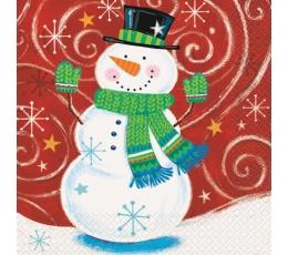 """Salvetes """"Līksms sniegavīrs"""" (16 gab)"""