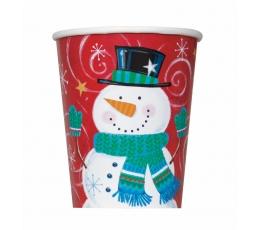 """Glāzītes """"Jautrs sniegavīrs"""" (8 gab/266 ml)"""