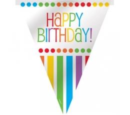 "Karodziņu virtene ""Happy Birthday"", krāsaina (3,65 m)"