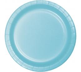Šķīvīši, gaiši zili (24 gab/22 cm)