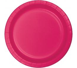 Šķīvīši, spilgti rozā (24 gab/22 cm)