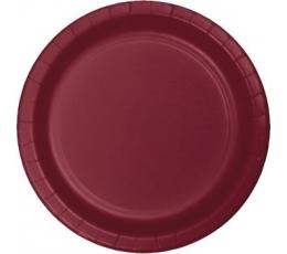 Šķīvīši, burgundieša krāsā (24 gab/22 cm)