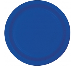 Šķīvīši, spilgti zili (24 gab/22 cm)
