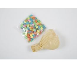 Baloni, caurspīdīgi ar krāsainiem konfeti (6 gab)