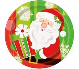 """Šķīvīši """"Ziemassvētku vecīša dāvanas"""" (8 gab/18 cm)"""