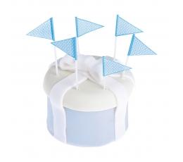 Шпажки-флажки, синие  (25 шт)