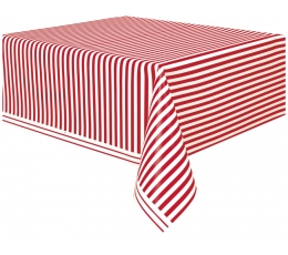 Galdauts, sarkans strīpains (137x274 cm)