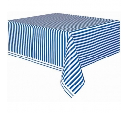 Galdauts, zils -svītrains (137x274 cm)