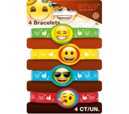 """Резиновые браслеты  """"Эмодзи"""" (4 шт)"""