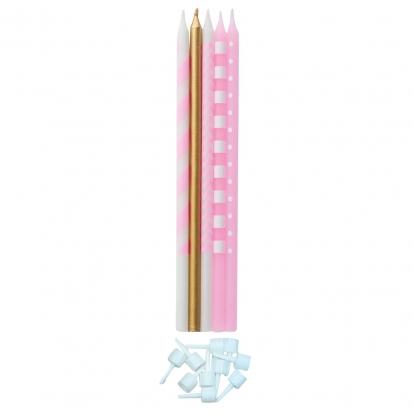 """Svecīšu komplekts """"Rozā spīdums"""" (15,5 cm)"""