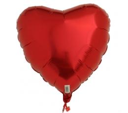 Фольгированный шарик, сердечко, красное (45 см)