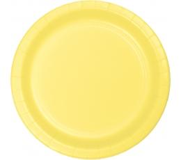 Šķīvīši, dzeltenīgi (24 gab/17 cm)