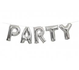 """Комплект фольгированных шаров""""Party"""", серебряный (35 см)"""