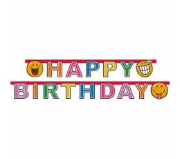 """Girlianda """"Smiley Happy Birthday"""" (1,80 m)"""