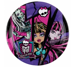 "Šķīvīši ""Monster High - 2"" (8 gab / 18 cm)"