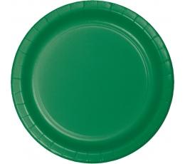 Šķīvīši, zaļi (8 gab/22 cm)
