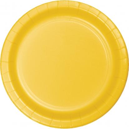 Šķīvīši, dzelteni (8 gab/22 cm)