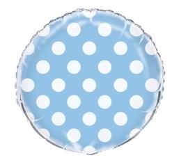 Folija balons, punktaini zils (45 cm)
