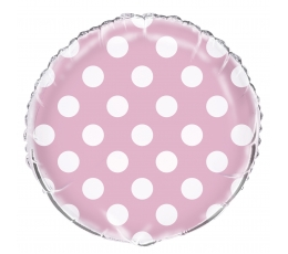 Folija balons, punktaini sārts (45 cm)