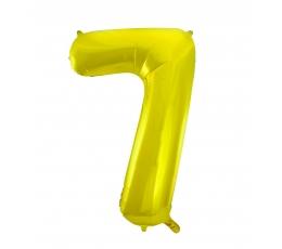 """Folija balons, skaitlis """"7"""",zelta krāsā (85 cm)"""
