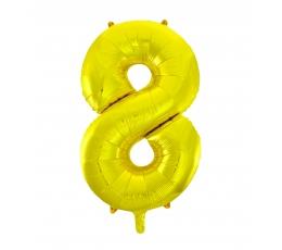 """Folija balons, skaitlis """"8"""",zelta krāsā (85 cm)"""