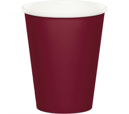Glāzītes, burgundieša krāsā (24 gab/266 ml)