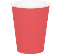 Glāzītes, koraļļkrāsas (24 gab/266 ml)