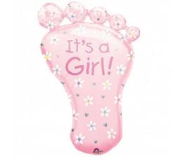 """Folija balons """"Rozā pēdiņa"""" (78 cm)"""
