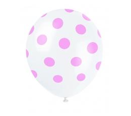 Baloni, sārti punkti (6 gab/30 cm)