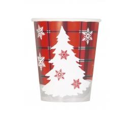 """Glāzītes """"Rūtaini Ziemassvētki"""" (8 gab/ 266 ml)"""