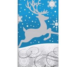 """Galdauts """"Sudraba sniegpārslas"""" (137 x 259 cm)"""