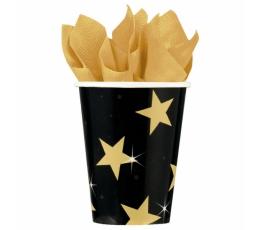 "Glāzītes ""Zelta Holivudas zvaigznes"" (8 gab/ 266 ml)"