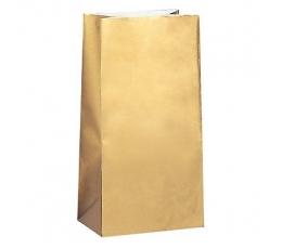 Saldumu-dāvanu maisiņi, zelta papīra (10 gab)