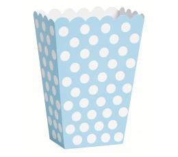 Kastītes uzkodām, gaiši zilas ar punktiem (8 gab)
