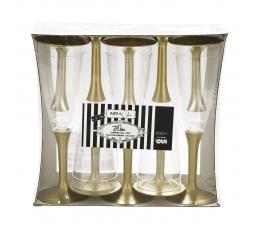 Šampanieša glāzes, zelta (10 gab)