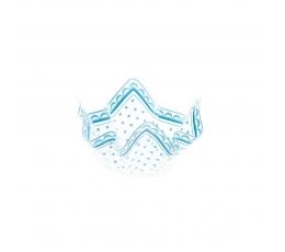 Plastmasas bļodiņa ar ziliem punktiem(13 x 7 cm)