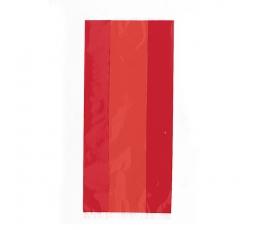 Saldumu-dāvanu maisiņi, sarkani celofāna (30 gab)