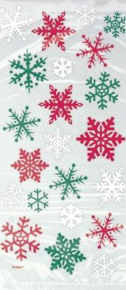 """Dāvanu maisiņi """"Ziemassvētku sniegpārslas"""" (20 gab)"""