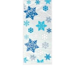 """Dāvanu maisiņi """"Zilas sniegpārslas""""  (20gab)"""