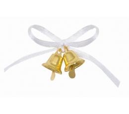 """Dāvanu saiņošans dekorācijas """"Zelta zvaniņi"""" (12 gab)"""