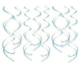 """Karināma dekorācija """"Gaiši zilas spirāles"""" (8 gab)"""