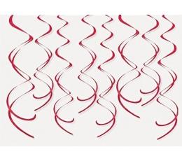 Karināmas dekorācijas - sarkanas spirāles (8gab)