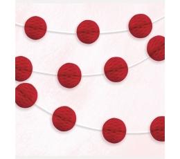 Sarkana bumbiņu virtene  (2,13cm)
